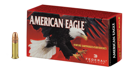 FEDERAL AMMUNITION 22LR 38 gr Copper Plated Hollow Point American Eagle 400 Round Brick