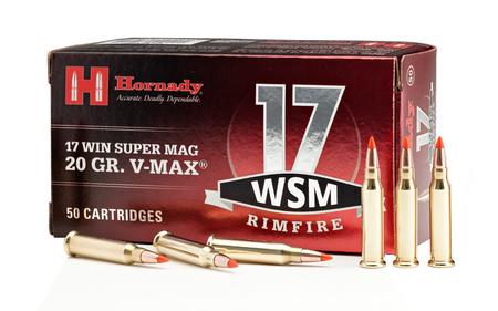 HORNADY 17 WSM 20 gr V-Max Rimfire Ammo 50/Box