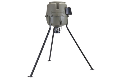 30 GALLON EASY-LOCK TRIPOD DEER FEEDER