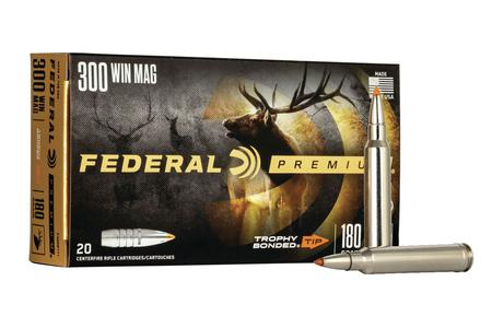 FEDERAL AMMUNITION 300 Win Mag 180 gr Trophy Bonded Tip Vital-Shok 20/Box