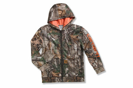 CAMO LOGO FLEECE ZIP FRONT