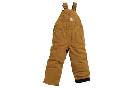 QUILT LINED CANVAS BIB OVERALL YTH