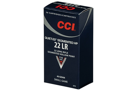 CCI AMMUNITION 22LR 40 gr Segmented Hollow Point Small Game 50/Box