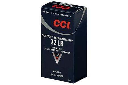CCI Quiet-22 .22LR Segmented Hollow Point 40 Grain 50 Rounds