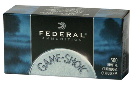 Federal 22LR 38 gr Copper Plated HP Game-Shok 500 Round Brick
