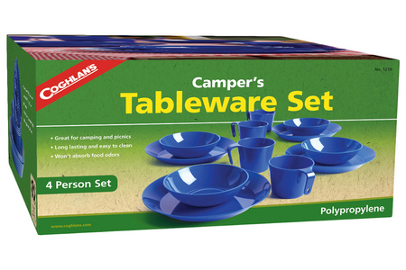 4 PERSON CAMPERS TABLEWARE