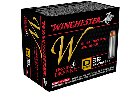 WINCHESTER AMMO 38 Special 130 gr JHP Train and Defend 20/Box