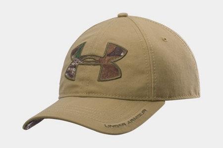 UA CALIBER CAMO LOGO SOLID CAP