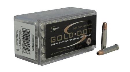 SPEER AMMUNITION 22 WMR 40 gr Gold Dot HP Short Barrel 50/Box