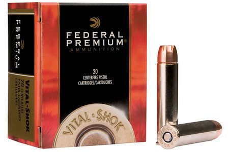 FEDERAL AMMUNITION 44 Rem Mag 280 gr Swift A-Frame Vital-Shok 20/Box