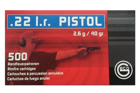 GECO 22LR 40 gr Lead Round Nose 500 Round Brick