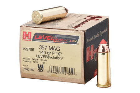 HORNADY 357 MAG 140 GR FTX LEVEREVOLUTION 25/BOX