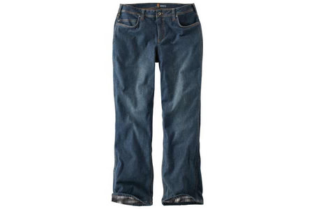 RELAXED FIT DENIM FLANNEL LINED JEAN