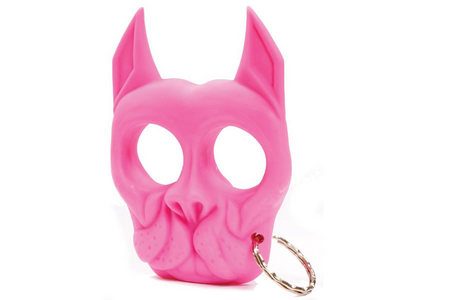 PINK BRUTUS PIT BULL SELF DEF KEYCHAIN