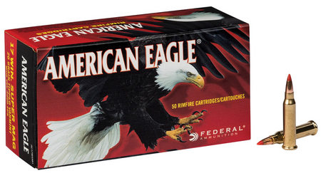 FEDERAL AMMUNITION 17 WSM 20 gr Tipped Varmint American Eagle 50/Box