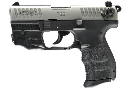 WALTHER P22 NICKEL 22LR PISTOL WITH LASER