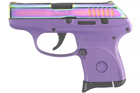RUGER LCP 380 ACP W/ PURPLE COLOR CASED SLIDE