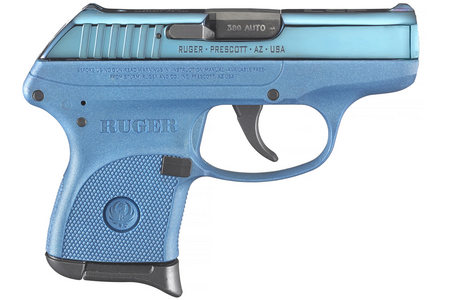 RUGER LCP 380 ACP W/ BLUE COLOR CASED SLIDE