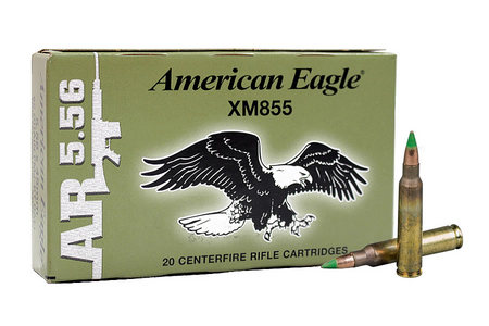 FEDERAL AMMUNITION XM855 5.56mm 62 gr FMJ-BT Ball 20/Box