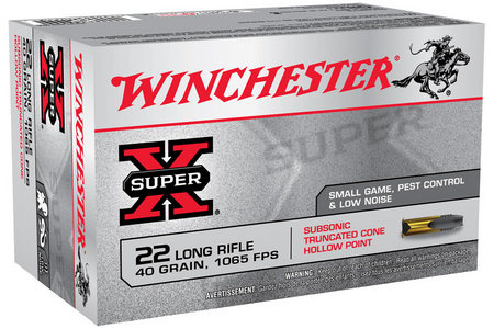 WINCHESTER AMMO 22LR 40 gr Subsonic Truncated Cone HP Super-X 50/Box