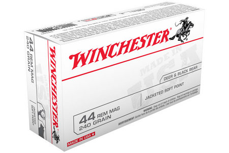 WINCHESTER AMMO 44 Rem Mag 240 gr Jacketed Soft Point 50/Box