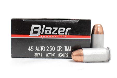 CCI AMMUNITION 45 ACP 230 gr TMJ Blazer Police-Trade Ammunition 50/Box