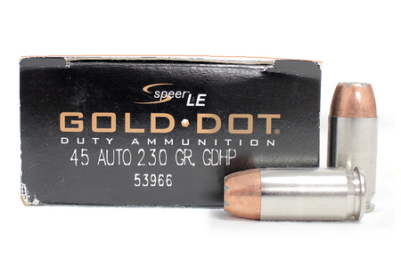 Speer 45 ACP 230 gr GDHP Gold Dot Police-Trade Ammo 50/Box