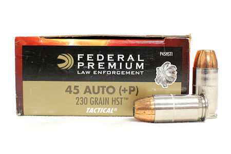 Federal 45 ACP +P 230 gr HST HP Tactical Police-Trade Ammo 50/Box