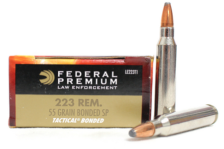 Federal Ammunition 223 Rem 55 gr Bonded SP Tactical Police-Trade Ammo 20/Box