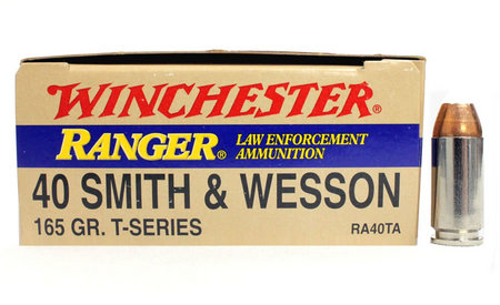 WINCHESTER AMMO 40SW 165 gr JHP Ranger T-Series Police Trade 50/Box
