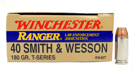 WINCHESTER AMMO 40SW 180 gr JHP T-Series Police Trade 50/Box