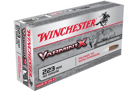 Winchester 223 Rem 40 gr Polymer Tip Varmint X 20/Box