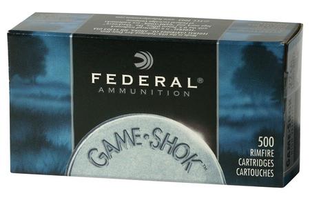 FEDERAL AMMUNITION 22LR 40 gr Copper Plated Solid Game-Shok 500 Round Brick