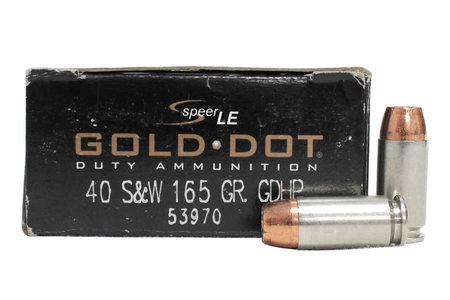 SPEER AMMUNITION 40SW 165 gr GDHP Gold Dot Police-Trade Ammo 50/Box