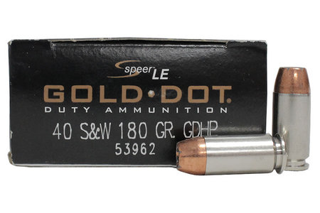 Speer 40SW 180 gr GDHP Gold Dot Police-Trade Ammo 50/Box