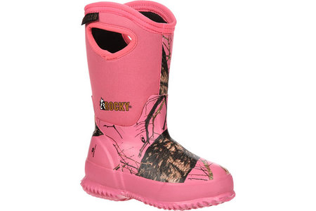 GIRLS CORE CAMO RUBBER BOOTS