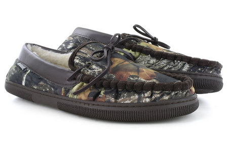 CAMO PILE LINED HOUSE SLIPPER