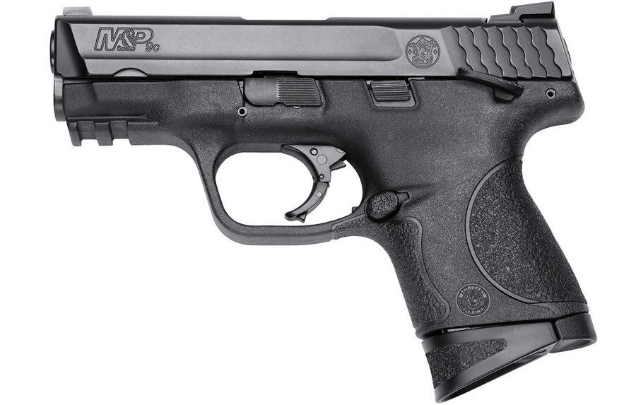 SMITH AND WESSON MP9C 9MM COMPACT SIZE THUMB SAFETY