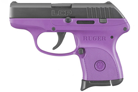 RUGER LCP 380 ACP BLACK/PURPLE LADY LILAC
