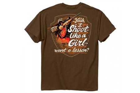 SHOOT LIKE A GIRL TEE