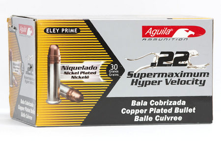 AGUILA 22LR 30 gr Copper Plated HP Supermaximum Hyper Velocity 50/Box