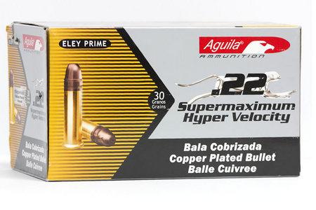 AGUILA 22LR 30 gr Copper Plated HP Brass Supermaximum Hyper Velocity 50/Box