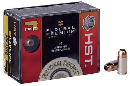 FEDERAL AMMUNITION 380 ACP 99 gr HST JHP Personal Defense 20/Box