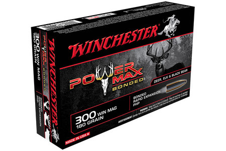 WINCHESTER AMMO 300 Win Mag 180 gr Protected HP Power Max Bonded 20/Box