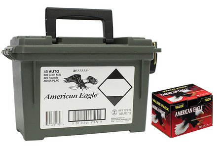 Federal Ammunition 45 ACP 230 gr FMJ with Ammo Can 300 Rounds
