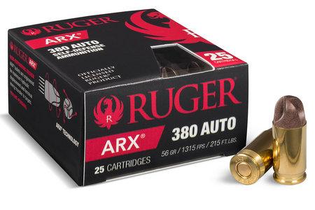 RUGER 380 ACP 56 gr ARX Self Defense 25/Box
