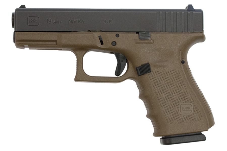 19 9MM FLAT DARK EARTH PISTOL (GEN4)