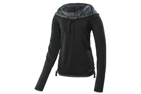 PEBBLE MELANGE HOODIE BASE LAYER