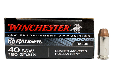 Winchester 40SW 180 gr Bonded JHP Police Trade Ammo 50/Box