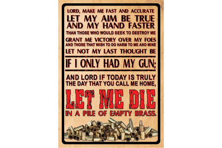 LORD`S PRAYER TIN SIGN